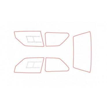 Kit vitres polycarbonate makrolon Peugeot 106 Phase 2