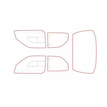 Kit vitres polycarbonate makrolon Peugeot 306