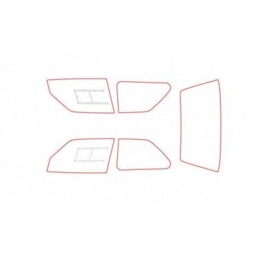 Kit vitres polycarbonate makrolon Peugeot 207