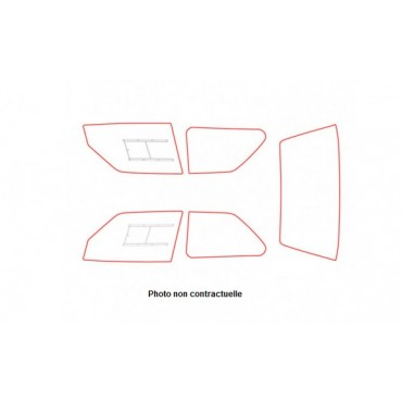 Kit vitres polycarbonate makrolon Citroën Visa