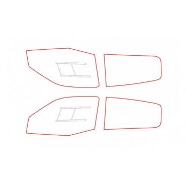 Kit vitres polycarbonate makrolon Renault Clio 2