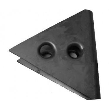 gousset de croix de portes 2 trous 62°