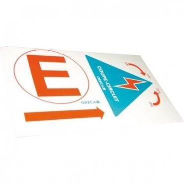 stickers coupe-circuit extincteur
