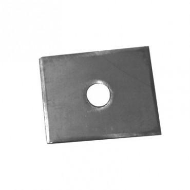 contreplaque inox 20cm² x 3mm 1 trou