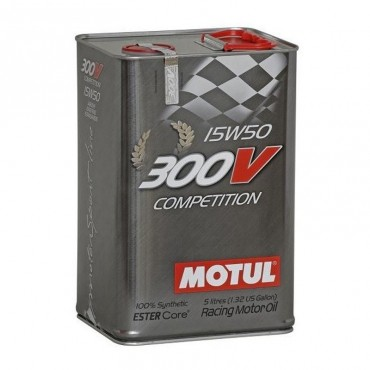Huile moteur MOTUL 300V 15W50 Compétition 5 litres