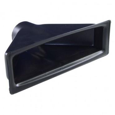 Ecope de refroidissement simple droite noire REVOTEC 51 mm - 205 x 66 x 117 mm