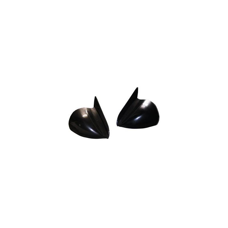 Pack Rétros Racing Obus noirs réglables + platine