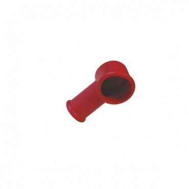 protection de borne batterie rouge cylindrique souple