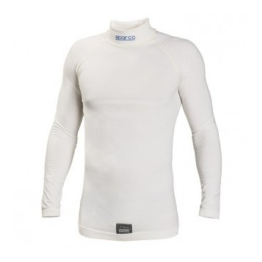 Tricot manches longues FIA SPARCO Delta RW-6 blanc