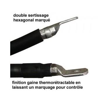 Câble pro 16mm² noir ou...
