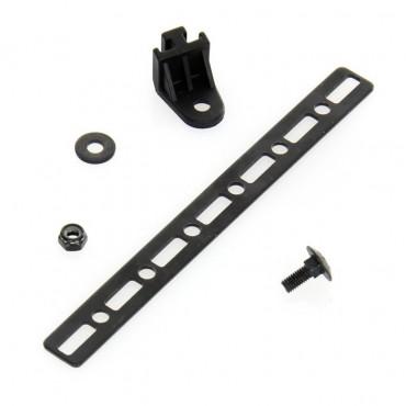 Fixation pour ventilateur SPAL L19 ep 4 mm + barrette métallique ep 2 mm