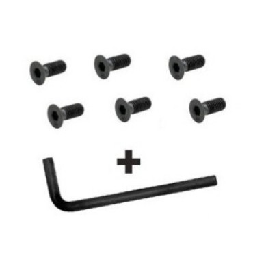 Kit vis volant + clef (6 trous type Momo, Sparco)