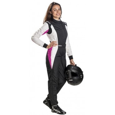 Combinaison FIA SPARCO Competition RS-5.1 Lady noir/blanc/rose