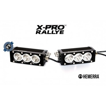 BARRE LED X-PRO RALLYE VIRAGES 2 X 3 MODULES 3900 LUMENS 60W