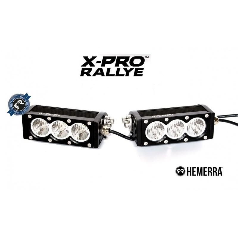 BARRE LED X-PRO RALLYE VIRAGES 2 X 3 MODULES 3900 LUMENS 60W