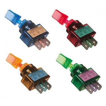 Interrupteurs Lumineux Bleu, Rouge, Vert, Orange