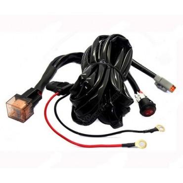 Câble relais - Faisceau électrique - Barre / phare LED 1 Prise Male DT