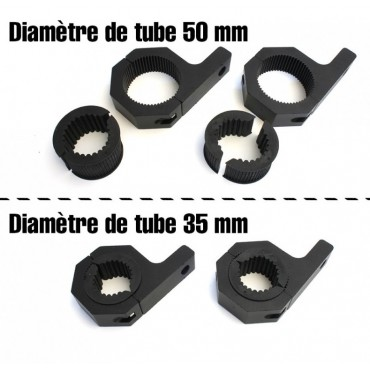 Fixations Barre LED pour Tube 50mm - 35mm