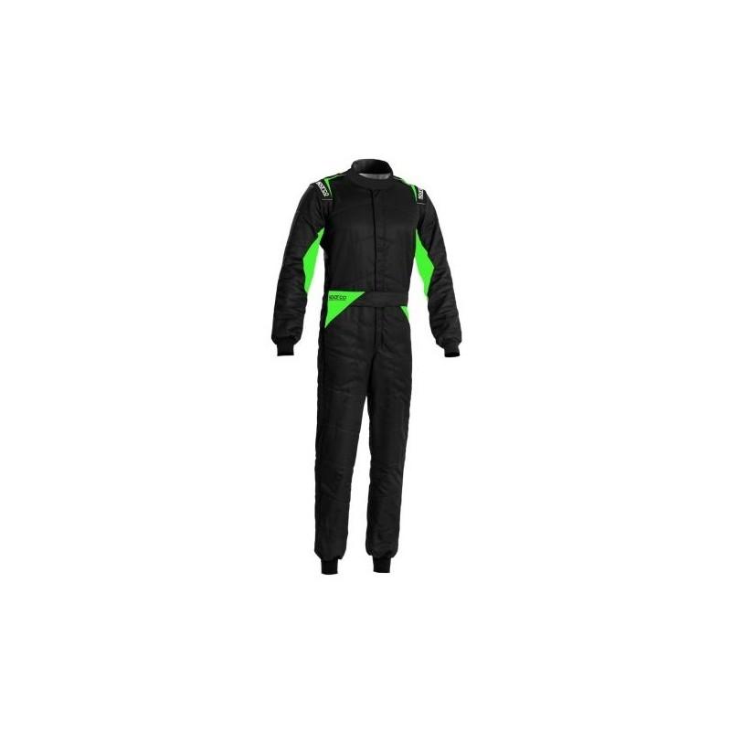 Combinaison SPARCO Sprint édition limitée Noir/Vert Fluo