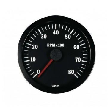 Compte-tours VDO 8000 Trs - Diamètre 100mm