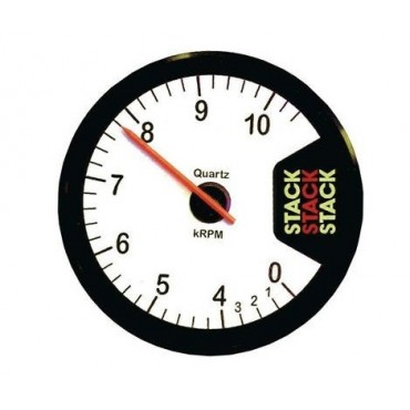 Compte-tours STACK CLUBMAN 15000 Trs - Diamètre 80mm - Blanc