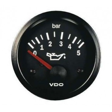 Manomètre pression d'huile VDO - 5 bars - Diamètre 52mm