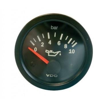 Manomètre pression d'huile VDO - 10 bars - Diamètre 52mm