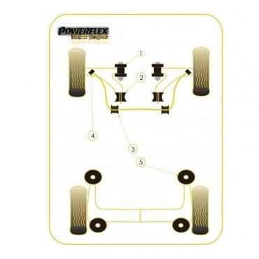 2 silent bloc gr A/F2000 barre stabilisatrice (intérieurs) 20mm 106/saxo/ax n° 3 Powerflex black series