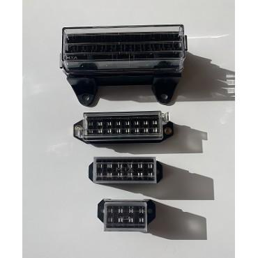 Porte fusible couvercle transparent connexions cachées