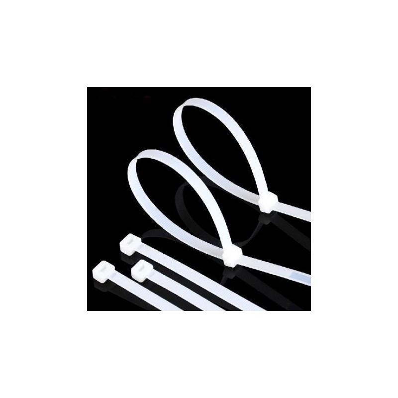 Serre-Câble Rilsan blanc 3.6mm x 200mm - 100 Pièces